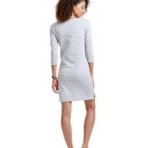 Vineyard Vines Dress Cotton Striped 3/4 Sleeve SM